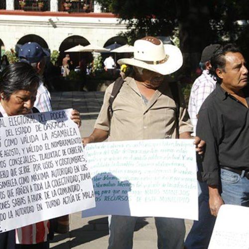 Pide Tlalixtac reconocimiento de sus autoridades municipales
