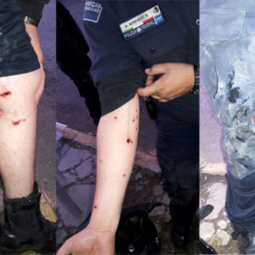 Recupera personal de la Policía Federal y SSPO autobús retenido por un grupo de normalistas y maestros de la Sección 22