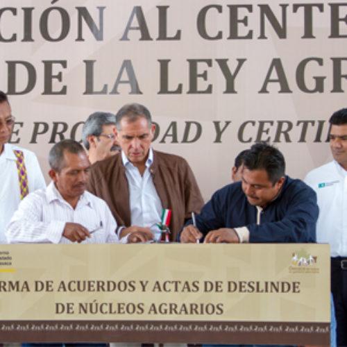 Avanza Gobierno de Oaxaca en la solución a conflictos agrarios y regularización en tenencia de la tierra