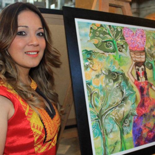 "Inauguran ""Oaxaca Vive"", exposición pictórica de la artista Doreli Ríos"