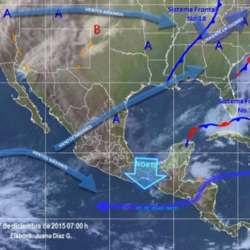 Prevalecerán lluvias en Oaxaca y evento de Norte en el Istmo de Tehuantepec