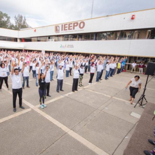 """Inicia IEEPO programa """"Muévete en 30M"""", para la activación física de los trabajadores"""