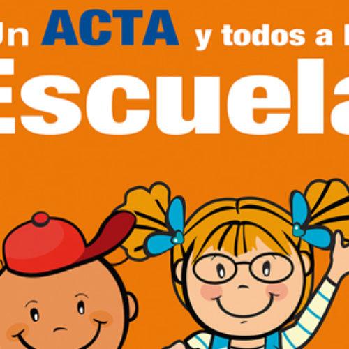 """Implementa Registro Civil Programa """"Un Acta y Todos a la Escuela"""""""