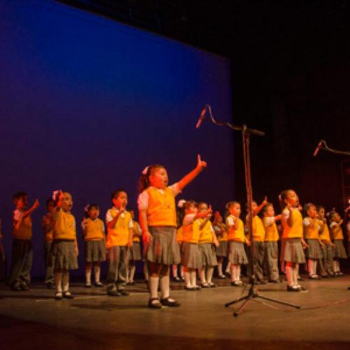 Fiesta poética en el Cuarto Encuentro con la Palabra 2016, en la que asisten preescolares de la zona escolar 062