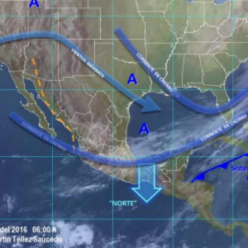 """Prevalecerá evento de """"Norte"""" en el Golfo e Istmo de Tehuantepec  y ambiente frío en el resto del estado"""