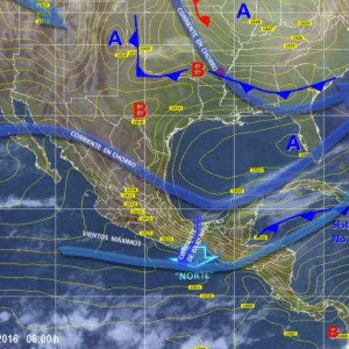 """Persistirá ambiente frío en territorio oaxaqueño, además evento de """"Norte"""" en el Golfo e Istmo de Tehuantepec"""