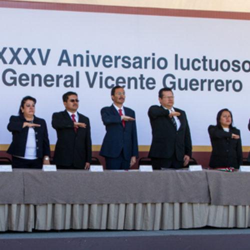 Conmemoran 185 Aniversario Luctuoso del General Vicente Guerrero