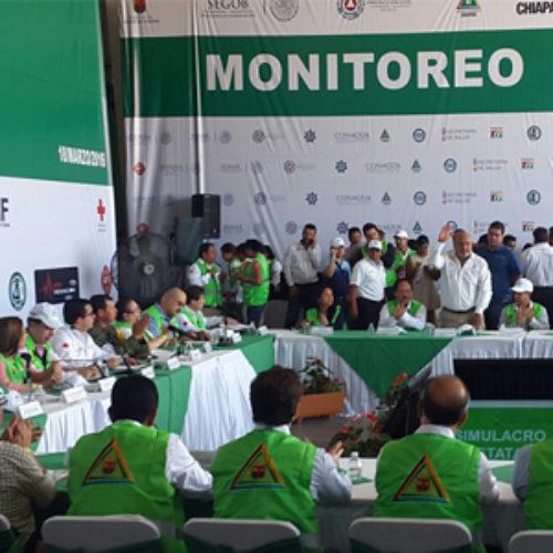 Participa titular de CEPCO en simulacro de sismo en Chiapas