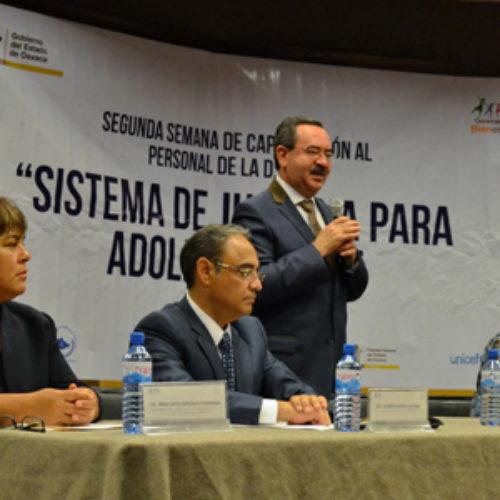 """Inauguran segunda semana de capacitación """"Sistema de Justicia para Adolescentes"""": SSPO"""