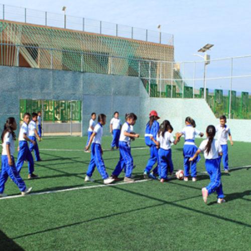 Estudiantes de Primaria de San Jacinto Amilpas  visitan Polideportivo del ITO