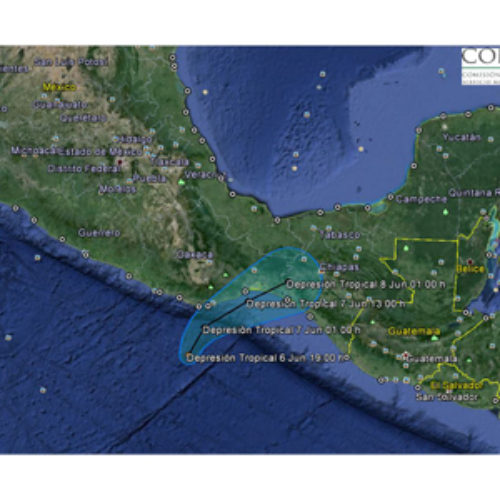 En alerta municipios de la Costa, Istmo y Sierra Sur por avance de Depresión Tropical UNO-E