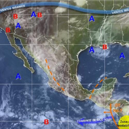 Onda tropical número 7, propiciará tormentas puntuales fuertes en Oaxaca
