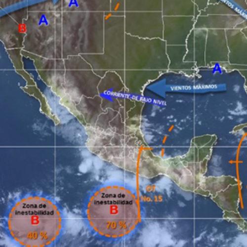 Se prevé para Oaxaca de chubascos a tormentas muy fuertes