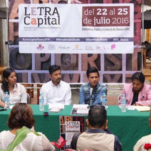 "Realizarán ""Primer Festival Letra Capital"""