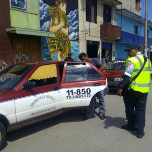 Colaboran SSPO y SEVITRA en operativo de supervisión al transporte público