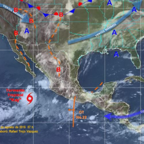 Onda tropical número 22 favorecerá tormentas muy fuertes en Oaxaca
