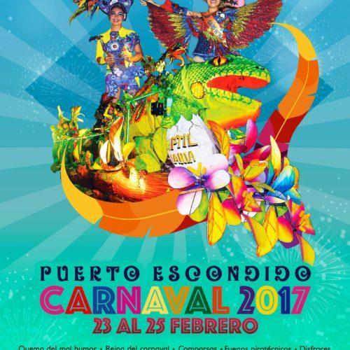 TE INVITAMOS AL CARNAVAL PUERTO ESCONDIDO 2017, DEL 23 AL 25 DE FEBRERO