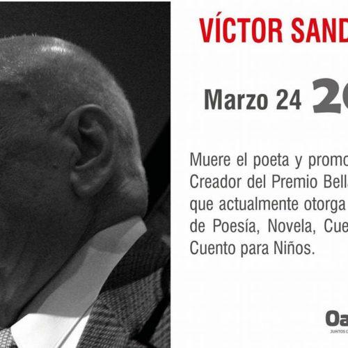 """UN DÍA COMO HOY EN 2013 MUERE EL POETA Y PROMOTOR CULTURAL """"VÍCTOR SANDOVAL"""""""