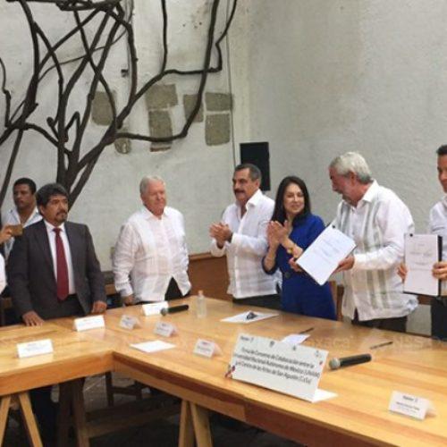 Firman convenio de colaboración gobierno estatal y la UNAM.