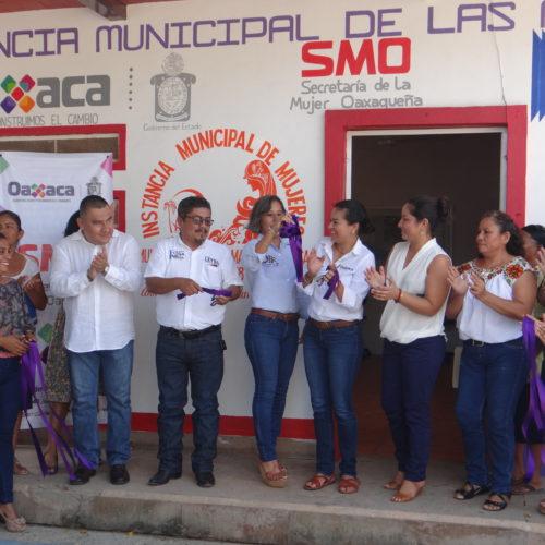 INAUGURACIÓN DE INSTANCIA MUNICIPAL DE LAS MUJERES EN SANTA MARÍA TONAMECA