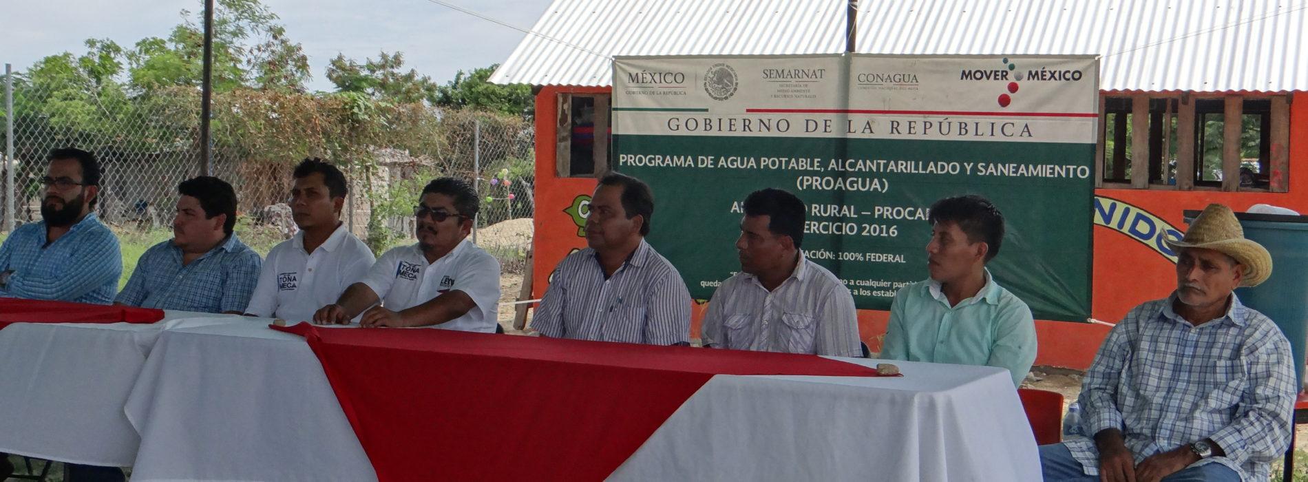 """EN LA COMUNIDAD DE AGUA BLANCA TONAMECA, SE REALIZÓ LA ENTREGA RECEPCIÓN DE LAS OBRAS DENOMINADAS """"CONSTRUCCIÓN DE SISTEMA DE AGUA POTABLE MEDIANTE CAPTACIÓN DE LLUVIA Y CONSTRUCCIÓN DE SANITARIOS RURALES CON BIODIGESTORES"""""""