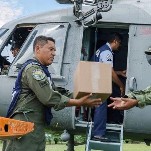 Brindan Fuerzas Armadas y Gobierno ayuda Chicapa de Castro.