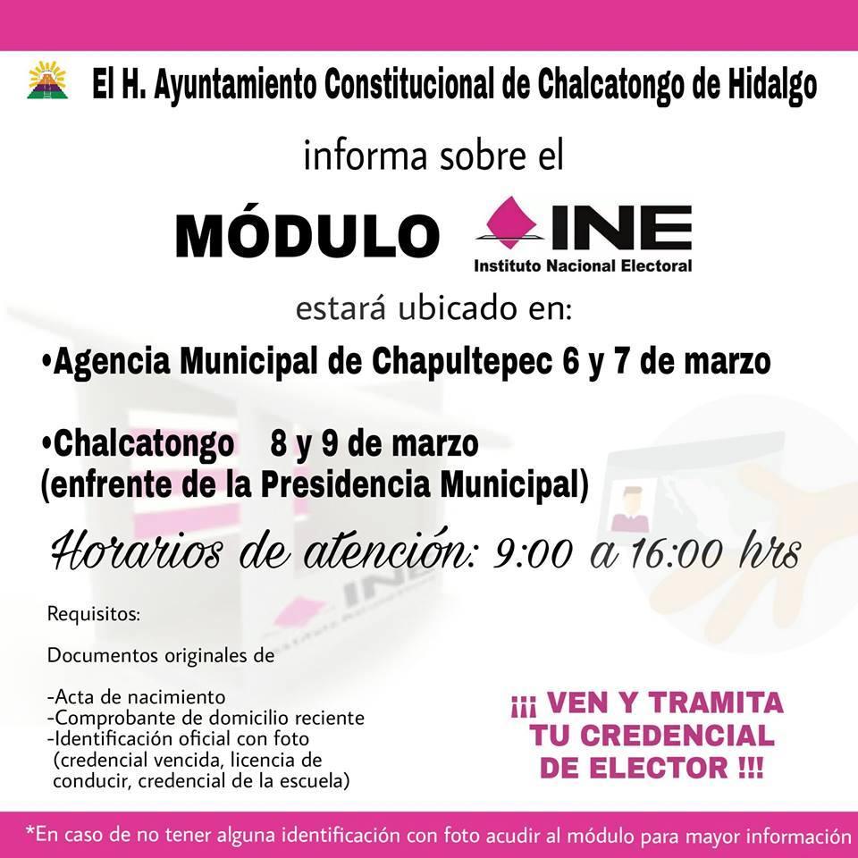 En Marzo El Modulo Ine Estará En La Agencia De Chapultepec